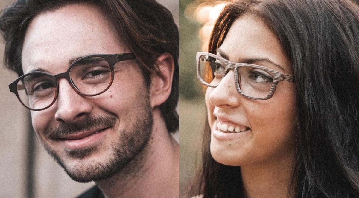 KobelFein Brille aus Naturholz und Acetat