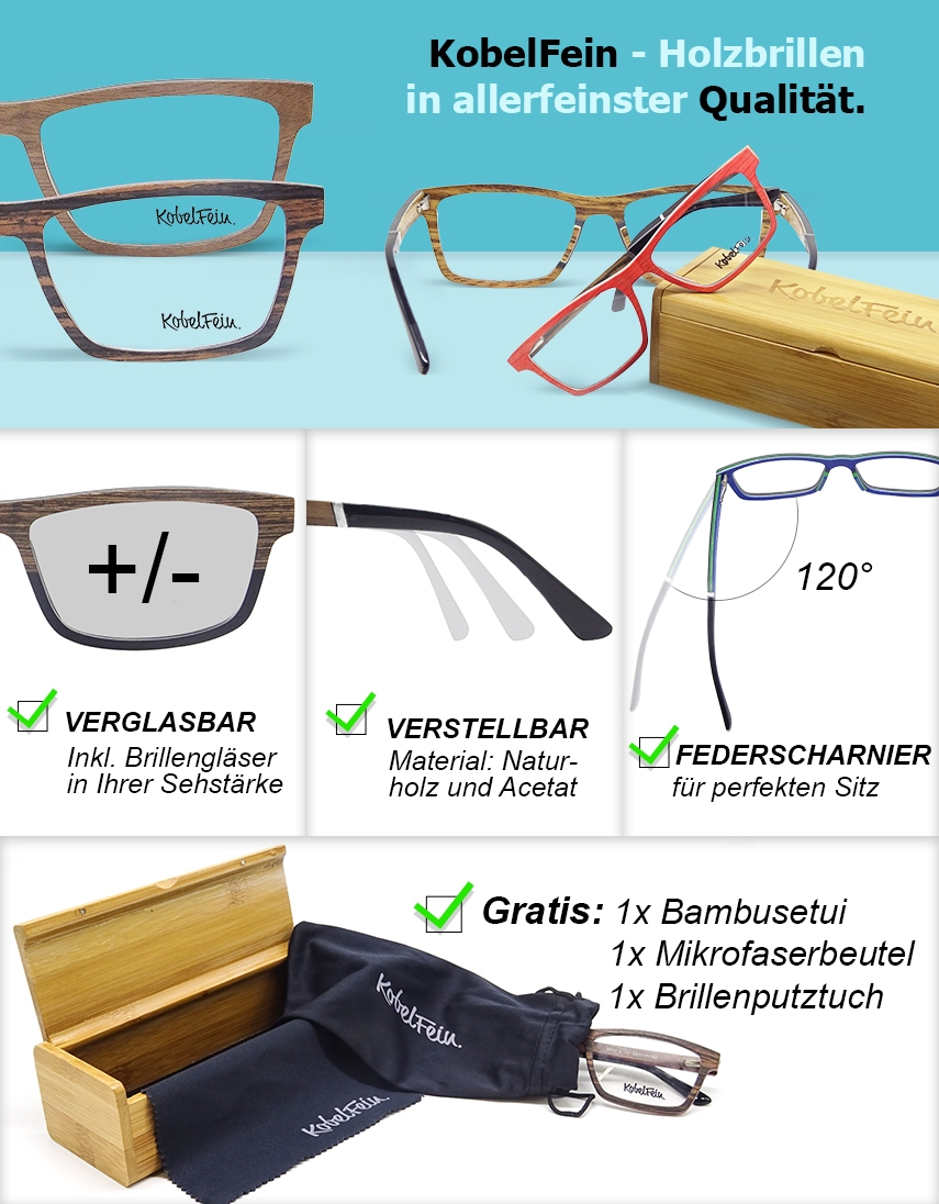Holzbrillen mit Sehstärke