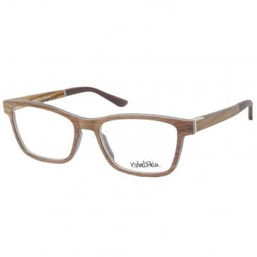 Kobelfein Holzbrille Denver 4003-1 braun mit Sehstärke