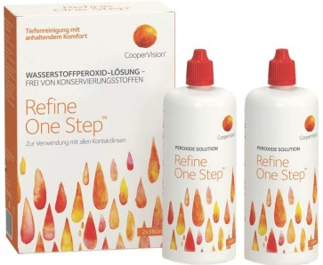 CooperVision Refine One Step Kontaktlinsenflüssigkeit - 2er Pack (2 x 360 ml)