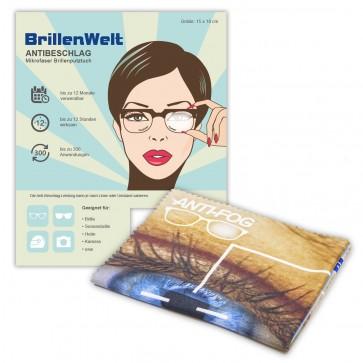 BrillenWelt Antibeschlagtuch für Brille (18x15cm)