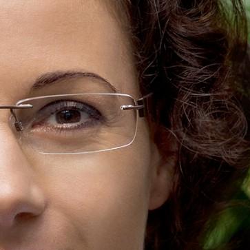 Brillenglas mit Entspiegelung