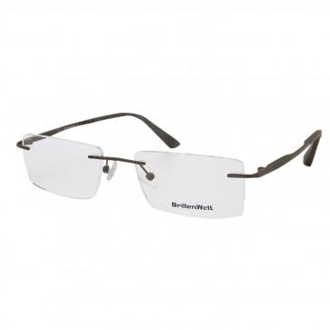 BrillenWelt Brille in Sehstärke braun mit Federscharnier Titan