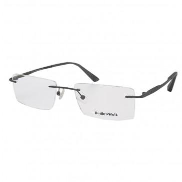 BrillenWelt Brille in Sehstärke dunkelgrau mit Federscharnier Titan