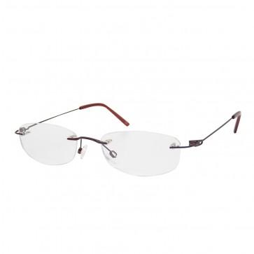 BrillenWelt whynot randlose Brille in Sehstärke dunkelrot Metall