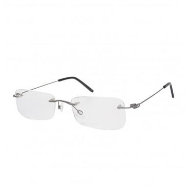 BrillenWelt whynot randlose Brille in Sehstärke silber/schwarz Metall