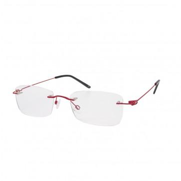 BrillenWelt whynot randlose Brille in Sehstärke rot/schwarz Metall mit Federscharnier