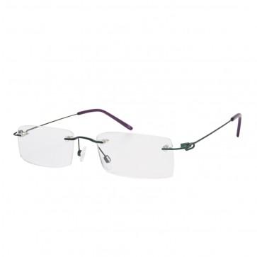 Brillenwelt whynot randlose Brille mit Sehstärke petrolgrün/lila Metall
