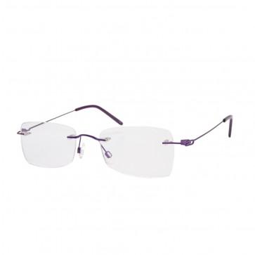 BrillenWelt whynot Randlose Brille in Sehstärke lila/magenta Metall