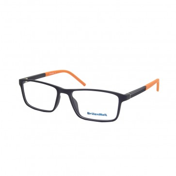 BrillenWelt Brille in Sehstärke schwarz/orange mit Federscharnier