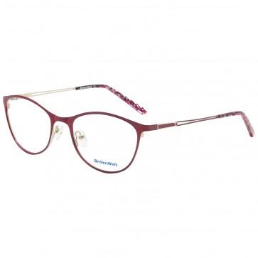 Wunderschöne Brille mit Sehstärke Metall bunt rot pink Brillenbügel