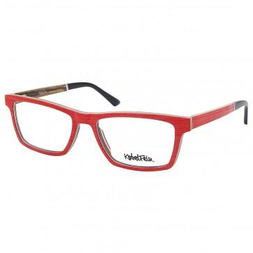 Aluminium Brille Holzbrille für Damen mit Sehstärke Echtholz