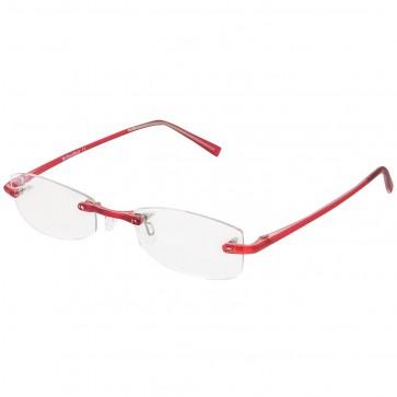 BW 5995 randlose Brille whynot Fassung Kunststoff matt rot