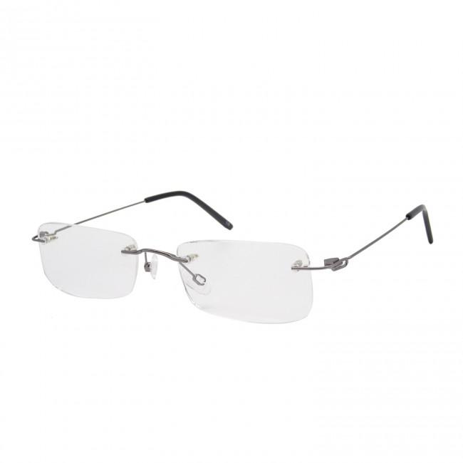 Brillenwelt Randlose Brille Silber Mit Federscharnier Etui 59