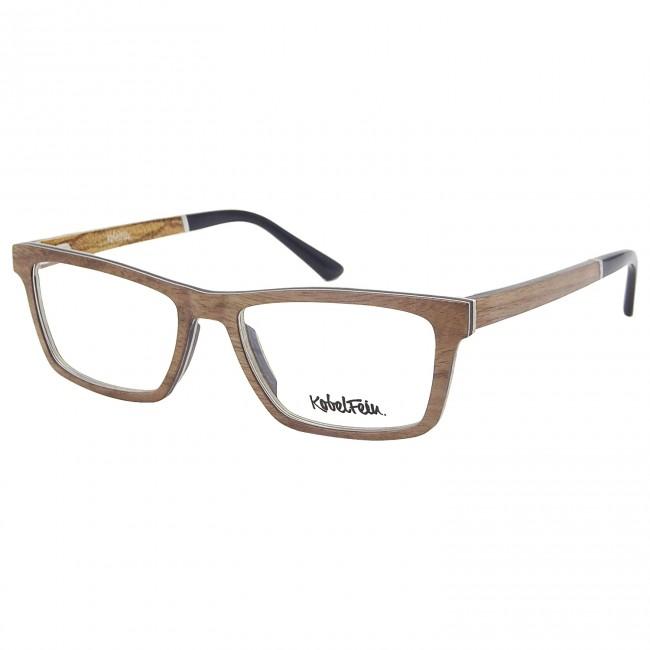 2019 original kaufen Neuankömmlinge Kobelfein Holzbrille Boston 4002-1 braun mit Sehstärke