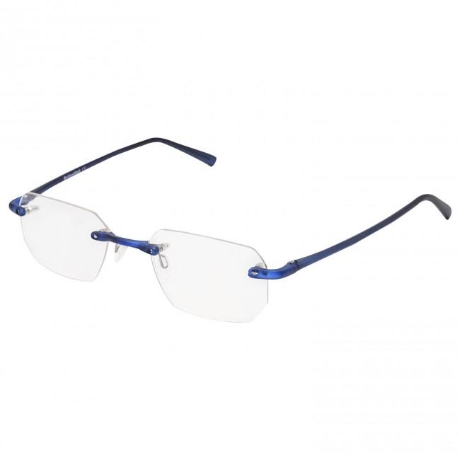 Brillenwelt Randlose Whynot Brille Fassung In Matt Blau Mit Glasern
