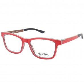 Kobelfein Holzbrille Denver 4003-2 rot mit Sehstärke