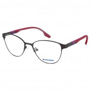 Brillengestell Damen Metall schwarz/rot 4331-2