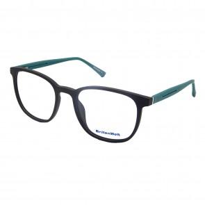 Brillengestell Damen Heren schwarz/grün rund 4533-3