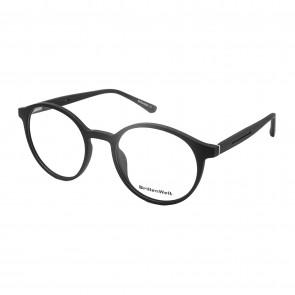 Brillengestell Damen Herren schwarz rund 4533-1
