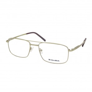 BrillenWelt Brille in Sehstärke gold mit Federscharnier Titan