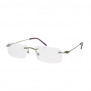 BrillenWelt whynot randlose Brille in Sehstärke Moosgrün/lila Metall