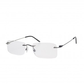 Brillenwelt whynot randlose Brille schwarz Metall