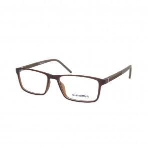 BrillenWelt Brille in Sehstärke braun mit Federscharnier