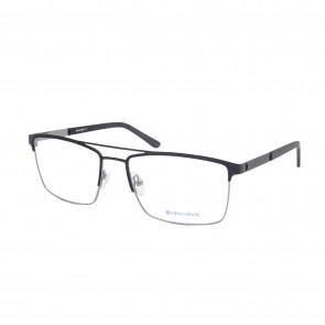 BrillenWelt Brille in Sehstärke schwarz Metall mit Federscharnier