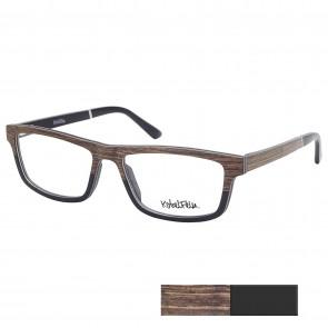 Kobelfein Holzbrille New York 3001-2 schwarz/braun mit Sehstärke