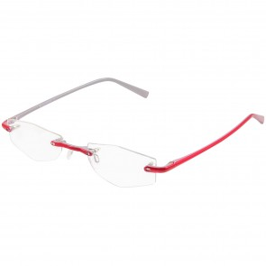 BW 5995 randlose Brille whynot Fassung Kunststoff rot silber