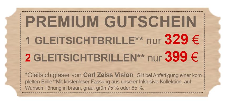 Gutschein Gleitsichtbrille