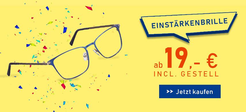 Einstärkenbrillen ab 19€ inkl. Gestell
