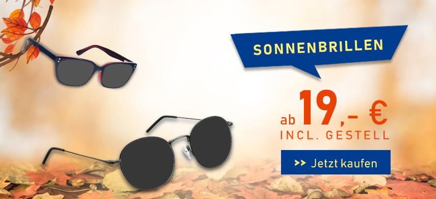 Sonnenbrillen ab 19€ inkl. Gestell