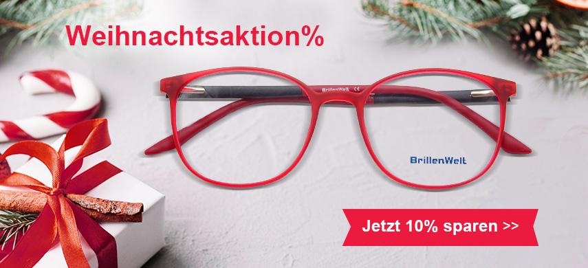 Weihnachtsaktion Brillen 10% sparen